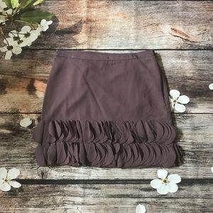 Banana Republic Purple 100% Silk Skirt